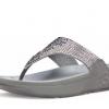 รองเท้า Fitflop รุ่น Flare สีเทา ระยิบระยับด้วยเพชรเม็ดเล็ก ๆ