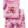 baby Gap แขนสั้น-ขาสั้น ลายลิงปั่นจักรยาน (สกรีนลาย)