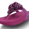 รองเท้าฟิตฟลอป - Fitflop Frou รุ่นดอกไม้กำมะหยี่ สีม่วง ขลิปเงิน