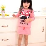 ชุดเสื้อสกรินลายโบว์ MINNIE + กระโปรงสีชมพู (ผ้าดีค่ะ)