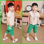 กางเกงสามส่วน ลายตัวโน้ต สุดแนว*เขียว* 5 ตัว/แพค *ส่งฟรี*