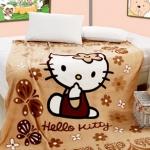 ผ้าห่ม Kitty สีน้ำตาล