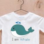 เสื้อยืดเด็กสกรีนลาย : I am Whale