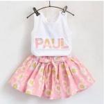 ชุดเสื้อกล้ามปะแปะลาย PAUL + กระโปรง