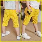 กางเกงสามส่วน ลายตัวโน้ต สุดแนว*เหลือง* 5 ตัว/แพค *ส่งฟรี*