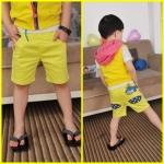 กางเกงสามส่วน ห้อยปลาโลมา *เหลือง* สุดแนว 5 ตัว/แพค *ส่งฟรี*