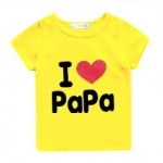 เสื้อยืดสกรีน I love papa (สีเหลือง)