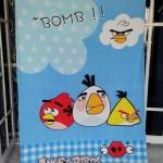 ผ้าห่ม Angry Birds Bomb ฟ้า