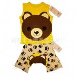 ชุดเสื้อกล้ามลายหมี + กางเกงก้นบาน