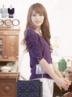 ♡♡pre-order♡♡  เสื้อผ้าแฟชั่น สไตล์ชุดทำงานน่ารักๆ แต่งผ้าลูกไม้ตรงชานเสื้อ ปักมุกสวยๆ