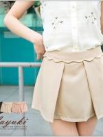 ♥♥พร้อมส่งค่ะ♥♥ กระโปรงกางเกงขาสั้น สีกากีช่วงดีไซส์เก๋ ใส่ทำงาานน่ารักมากๆ