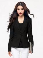 ♥พร้อมส่ง♥ เสื้อสูทไซส์ใหญ่เข้ารูป ปกเทเลอร์ สีดำ 2XL 3XL 4XL