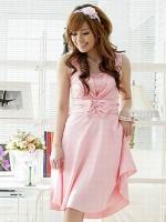 ♥พร้อมส่ง♥ ชุดราตรีผ้าไหม สีชมพู 2XL