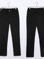 ♥พร้อมส่ง♥ กางเกงขายาวไซส์ใหญ่ สีดำ XL 3XL