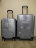 กระเป๋าล้อลากพัสดุ ABS น้ำหนักเบา ลาย Kitty ปั๊มนูนน่ารักไฮโซ 4 ล้อหมุน 360 ํ (ส่งฟรี)