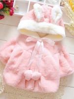 เสื้อกันหนาวสาวน้อยไฮโซสีชมพูหวาน (มีฮูท)