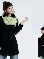 ♥พร้อมส่ง♥ เสื้อโค้ทไซส์ใหญ่กระดุมสองแถว สีดำ 3XL