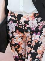 ♥♥หมดค่ะ♥♥ กางเกงขายาว สกินนี่ลายดอกสวยๆ