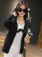 เสื้อแจ็คเก็ตกันลม สีดำ (XL,2XL,3XL)