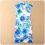 ++พร้อมส่ง++ ชุดกี่เพ้าสั้นผ้าซาตินไซส์ใหญ่ คอจีน กระดุมจีน แขนในตัว สีฟ้าลาย (3XL) thumbnail 2