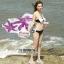 ผ้าคลุมชายหาดลายดอกไม้ Blossom : สีชมพูม่วง AB0015 thumbnail 1