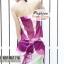 ผ้าคลุมชายหาดลายดอกไม้ Blossom : สีชมพูม่วง AB0015 thumbnail 7