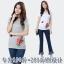 เสื้อยืดคอกลมแขนสั้นปักนูนลายดอกไม้ สีขาว/สีเทา/สีดำ (2XL,3XL,4XL,5XL,6XL) thumbnail 1