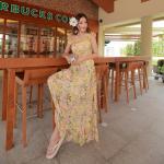 Summer Maxi Dress-Chiffon    แม็กซี่เดรสผ้าชีฟอง แฟชั่นเกาหลี