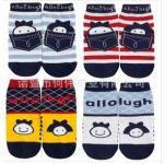 ถุงเท้า allo&lugh 01 4 ลาย 8 คู่/แพค *ส่งฟรี*