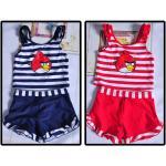 ชุดว่ายน้ำ Angry Birds เสื้อ +กางเกง (ไซส์ M 2 ชุด L 1 ชุด) *น้ำเงิน* 3 ชุด/แพค *ส่งฟรี*
