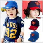 หมวก โลโก้ Super Man คละ 2 สี 4 ชิ้น/แพค *ส่งฟรี*
