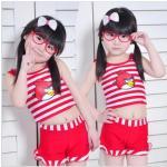 ชุดว่ายน้ำ Angry Birds เสื้อ +กางเกง (ไซส์ M 3 ชุด) *แดง* 3 ชุด/แพค *ส่งฟรี*