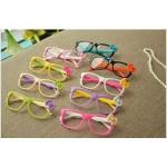 แว่นตา ติดโบว์ คละสี   24 อัน/แพค *ส่งฟรี*