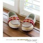 รองเท้าคัชชู โลโก้ H สีขาวเทา *กรุ๊ป B ไซส์ 26-30 *  5 คู่/แพค *ส่งฟรี*