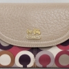 COACH MADISON GRAPHIC OP ART CHERRY GOLD MEDUIM COMPACT CLUTCH WALLET # 46734