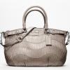 Coach madison gathered leather sophia satchel # 18620 สี Champagne