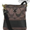 COACH SIS 3 Color Signature Crossbody Swingpack # 48069 สี Brown Multi
