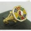 แหวนหยินหยาง 8 เหลี่ยม ลงยา งานเก่า นน.4.11 g