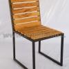 เก้าอี้ไม้สักขาเหล็ก CR-14