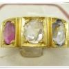 แหวน เพชรซีก ทับทิม ไพลิน ทอง 90 นน. 9.70 g
