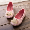 รองเท้าผ้าใบเด็ก ลาย kitty สีชมพูอ่อน เบอร์ 26-30