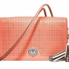 Coach Legacy Perforated Leather Penelope Penny Shoulder Purse # 23404 สี Coral
