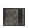 Coach Heritage Stripe Double Billfold Wallet # 74513