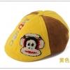หมวกเด็ก ลาย Paul Frank สีเหลือง น้ำตาล
