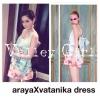 arayaXvatanika dress ชุดเดรสพิมลาย เปนคอลที่ขายดีเว่อๆ limited edition ชุดนี้มาพร้อมกับเขมกลัดโบว์บิ้กเบิ้มด้านหลัง สามาดถอดออกได้