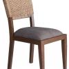 เก้าอี้ไม้แต่งผักตบชวา IFWH-007