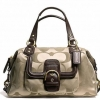 COACH CAMPBELL SIGNATURE SATCHEL # 24741 สี KHAKI MAHOGANY