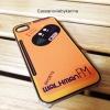 เคสไอโฟน4 walkman สีส้ม