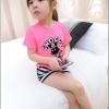 SET เสื้อ Cho Coo + กระโปรงรูปตา *ชมพู* 5 ชุด/แพค *ส่งฟรี*
