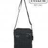 COACH SIGNATURE JACQUARD FLIGHT BAG MESSENGER / CROSSBODY # 70698 สี Black